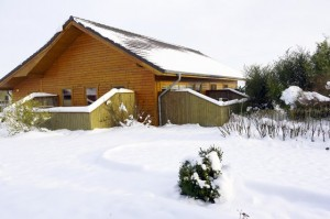 Ferienhaus Nordstern Winter Garten