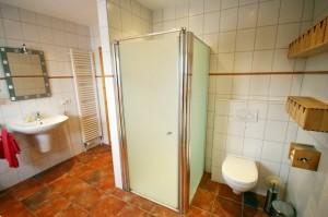 Ferienhaus Nordstern Badezimmer Dusche